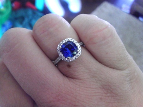 Better Than Diamond >> Timeless Halo Micropave With Kashmir Sapphire Cushion